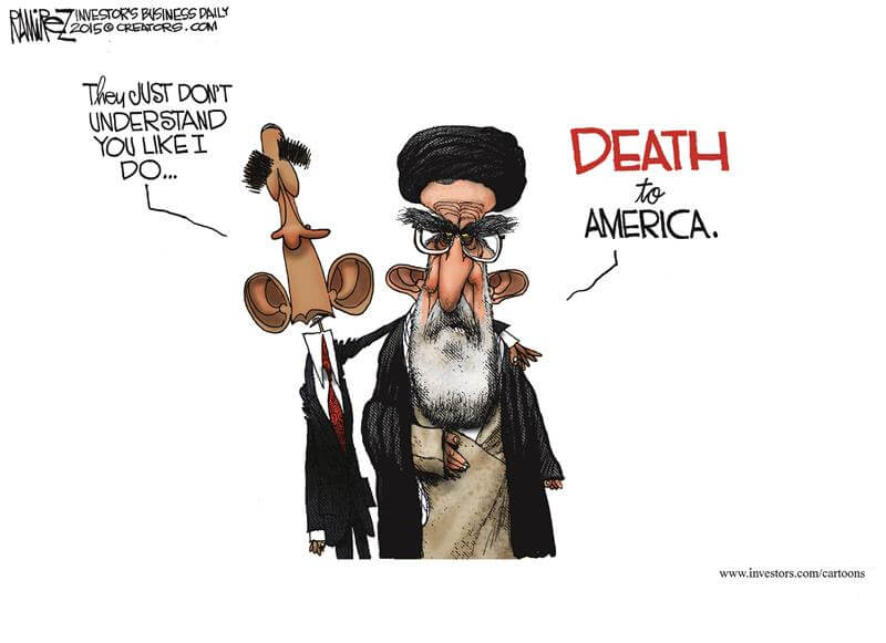 Obama Iran deal cartoon