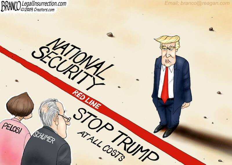 Image result for cartoon branco trump wall vs pelosi open borders